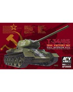 1/35 T-34/85 1944 Factory 183 (limited) w/Transparent turret (AFV35S55)