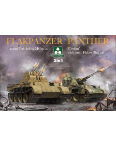 """1/35 Flakpanzer Panther 2in1: 20mm Flakvierling MG 151/20 and """"Coelian"""" with 37mm Flakzwilling 341 (TAK2105)"""