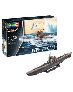 1/350 German Submarine Type VII C/41 (REV05154)