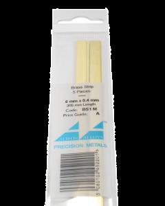 Messing Strip 0.4X6.0mm, 5 stuks Albion Alloys 1