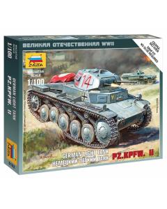 "1/100 German Pz.Kpfw. II, Light Tank, snap fit ""Art of Tactic"" (ZVE6102)"