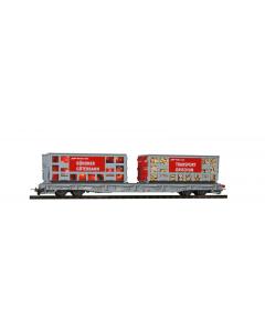 "H0m RhB R-w 8207 Tragwagen ""Bündner Güterbahn"" Apfel & Holz Bemo 2291127"