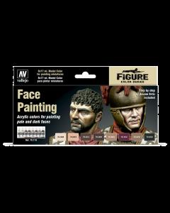 Face Painting Model Color Paint Set, 8 kleuren - Valllejo 70119 Vallejo 70119