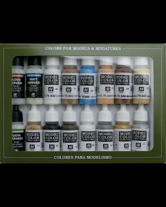 Folkstone Specialist Model Color Paint Set, 16 kleuren Vallejo 70102