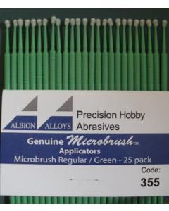 Microbrush Applicators Regular Green, 25 stuks Albion Alloys 355