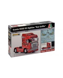 "1/24 Scania R560 V8 Highline ""Red Griffin"" (ITA3882)"