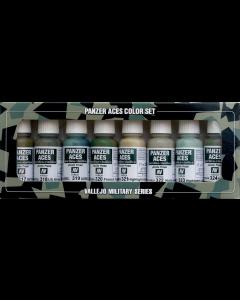 Panzer Aces Set #3, Allied Tank Crew Uniforms, 8 kleuren - Vallejo 70126 Vallejo 70126