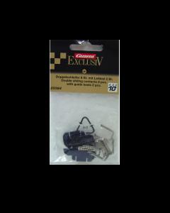 124 Slepers (8x) en Sleepschoen (2x) voor Carrera Exclusive en DIG124 (CAR20364)