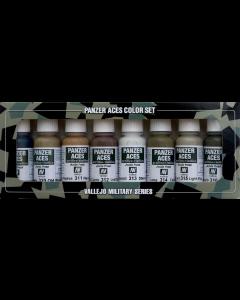 Panzer Aces Set #2 (o.a. Wood, Leather, Stencil), 8 kleuren Vallejo 70123