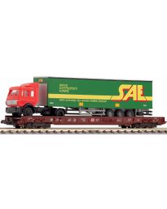 N DB 8 assige lagevloerwagen voor het vervoer van vrachtwagens (FLE827202)