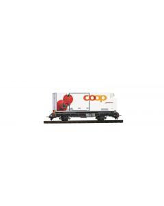 "H0m RhB Lb-v 7881 met Coop-Container ""Tomaten"" Bemo 2269120"