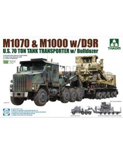 1/72 U.S. 70 Ton Tank Transporter M1070 & M1000 w/D9R (TAK5002)
