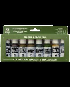 Panzer Model Color Paint Set WWII, 8 kleuren - Vallejo 70108 Vallejo 70108