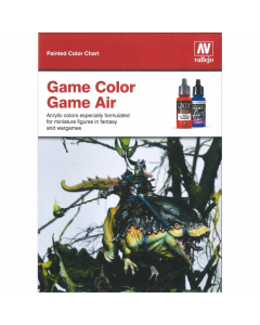 Handpainted Color Card - Game Color & Air Vallejo 972