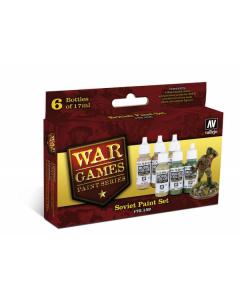 """Soviet WWII Model Color Paint Set """"War Games"""", 6 kleuren - Vallejo 70159 Vallejo 70159"""