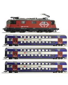 H0 SBB Treinset: elektrische lok Re 420 en forenzentrein (ROC61445)