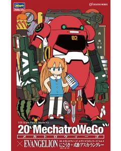 1/20 20 MechatroWeGo x Evangelion Unit-02 + Asuka Langley Hasegawa 52279