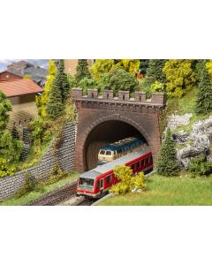 H0 2 Tunnelportalen, Stoomlocs en bovenleiding, 2-sporig (FAL120570)