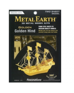 Metal Earth: Gold Golden Hind - MMS049G Metal Earth 570049