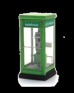 H0 Telefooncel 1100 jaren 1965-1985 (bouwpakket), groen (ART10397)