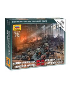 """1/72 German Machine-Gun MG-34 with Crew East Front (1939-1942), snap fit """"Art of Tactic"""" (ZVE6106)"""