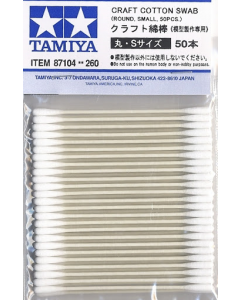 Craft Cotton Swab Round Small (50 stuks) Tamiya 87104