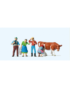 H0 Boeren met koe (PRE10044)