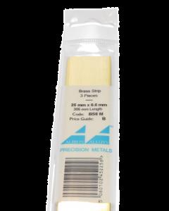 Messing Strip 0.6X25.0mm, 3 stuks Albion Alloys 6