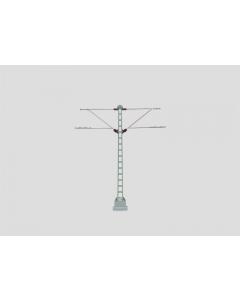 H0 Bovenleiding Vakwerk-Middenmast met 2-Uitleggers (MAR74105)