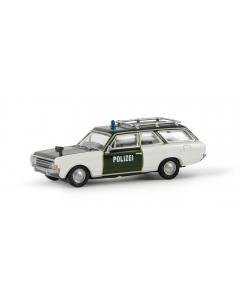 H0 Opel  Rekord  C  CarAVan  -Polizi (BRE20560)