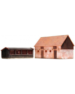 H0 Kippenhok en varkensstal (bouwpakket) Artitec 10198