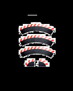 132/24 Slipstrook Buitenrand Bocht R1 60°, 3 stuks + 2 eindstukken (CAR20561)