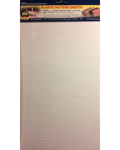 1/16 Traanplaat wit (dubbel), 190 x 305 mm, 2 stuks (JTT97453)