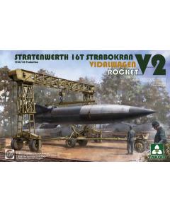 1/35 Stratenwerth 16T Strabokran Vidalwagen V2 Rocket 1944/45 Production (TAK2123)
