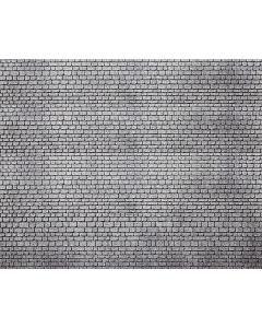H0 Muurplaat Gehouwen Natuursteen Grijs, 370 x 125 x 6 mm (2 x) Faller 170805