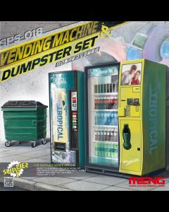 1/35 Vending Machine & Dumpster set Meng 018