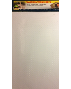 1/16 Traanplaat wit (enkel), 190 x 305 mm, 2 stuks (JTT97451)