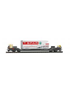 H0m RhB Sb-v 7728 Tragwagen mit Container
