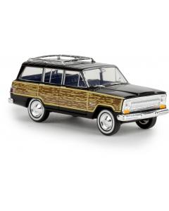 H0 Jeep  Wagoneer  schwarz  -woody- (BRE19855)