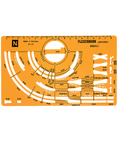 N Spoorplan Tekensjabloon Fleischmann Piccolo Fleischmann 995101
