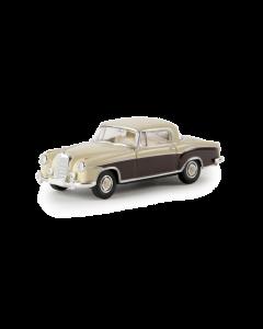H0 MB  220  S  Coupe,  elfenbein/bra Brekina 13506