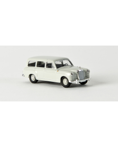 H0 Mercedes 180 Kombi (W120) ohne Kartonschuber hellgrau, 1955 Brekina 13450