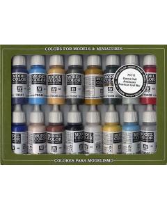 American Civil War Model Color Paint Set, 16 kleuren Vallejo 70111