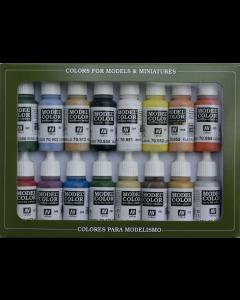 Basic Colors USA Model Color Paint Set, 16 kleuren Vallejo 70140