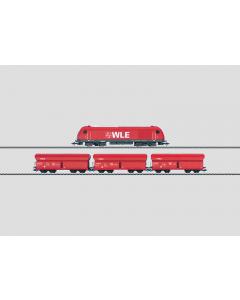 """H0 Treinset Diesellocomotief met 3-Zelflossers """"WLE"""" (MAR26548)"""