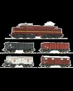 H0 NS 5-delige set: elektrische locomotief 1224 met goederentrein (ROC61460)