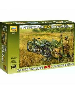 1/35 Soviet Motorcycle M-72 with 82mm Mortar (ZVE3651)