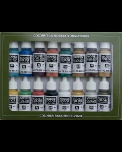 Medieval Model Color Paint Set, 16 kleuren (VAL70142)
