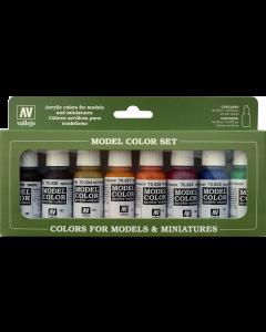 Transparent Color Model Color Paint Set, 8 kleuren Vallejo 70136
