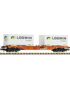 N Dubbele Containerwagen -Wascosa- (FLE824402)